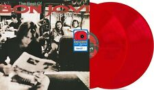 Bon Jovi Cross Road Best of WM Exclusive Red Colored Vinyl Double 2 LP Records
