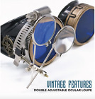 Victorian vintage Steampunk goggles costume accessory cosplay aviator pilot