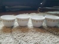Vintage Corelle by Corning Butterfly Gold Coffee Tea Cups Livingware Set Of 4