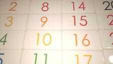 100 Laminated Rainbow Numbers Flashcards.  Preschool-Kindergarten Numbers 1-100.