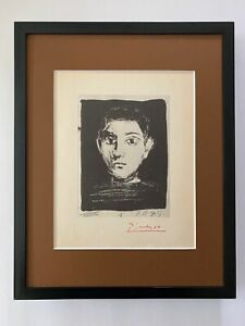 PABLO PICASSO 1947 SIGNED PRINT MATTED TO BE FRAMED 11 X 14IN. + LIST  $695