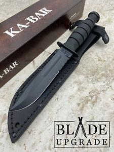 Ka-Bar Short Serrated Combat Fixed Blade Knife High Carbon Steel Kraton G 1257