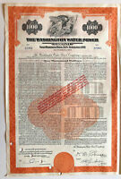 Washington Water Power Company > $1,000 bond certificate with coupons