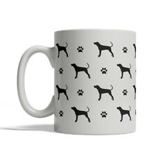 Coonhound Dog Silhouettes Coffee Mug, Tea Cup 11 oz ceramic redbone bluetick