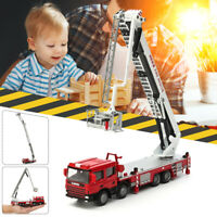 1:50 Diecast Aerial Fire Truck Construction Vehicle Cars Model Scale Xmax Gift