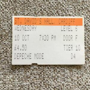 Depeche Mode ticket St David's Hall Cardiff 10/10/84 #D4