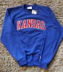 Authentic Champion Kansas Sweatshirt with Embroidered Logo Sz.Medium