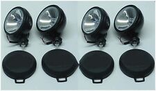 "4PCS  SIX INCH  6"" OFF ROAD LIGHT DRIVING/FOG  LIGHT BLACK HOUSING WITH COVER A1"