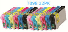 12PK of T098 Non-OEM INK FOR EPSON Artisan 700 810 837