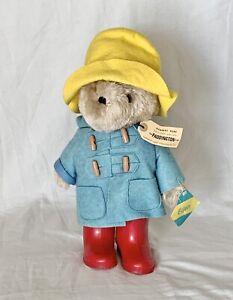 Vtg Paddington Bear 1981  With Tag Blue Coat Yellow Hat Darkest Peru Eden Toys