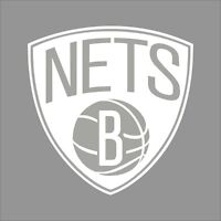 Brooklyn Nets #3 NBA Team Logo 1Color Vinyl Decal Sticker Car Window Wall