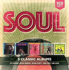 5 CLASSIC ALBUMS: SOUL, SAM & DAVE, EDDIE FLOYD, WILSON PICKETT  5 CD NEU