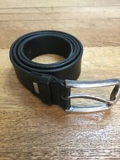"""Nouveau Homme Sangle Pantalon Ceinture 110 cm 44/"""" Bracelet Ruban toile noir boucle fabriqué UK"""