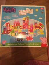 Peppa Pig Learn The Numbers Stacking Blocks Block 50+ Piece Toy Playset