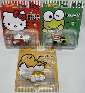 NEW 2021 Hot Wheels Character Cars Lazy Egg GUDETAMA Hello Kitty KEROPPI Sanrio
