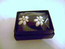 Avon Floral Clusters Oversized Stud Earrings Still Sealed in Plastic Wrapper