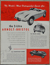 Arnolt Bristol  brochure - single page two sided great condition see photos