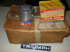 TR6 GT6 JAHNS DOMED PISTONS GOOD CONDITION HIGH COMPRESSION  .040 SIZE W/RINGS