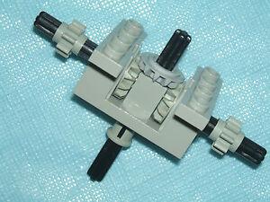 LEGO Technic Light GREY Split T Gearbox / Engine + Gears / Cogs & Black Axles
