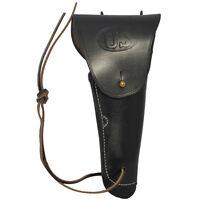 Black Leather US M1916 Colt Pistol Holster Repro M1911 Gun Holder American Army