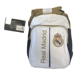 Real Madrid Man Bag Small Item Messenger Bag - White/Gold - New