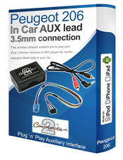 Peugeot 206 AUX lead, iPod iPhone MP3 player, Peugeot Auxiliary adaptor kit