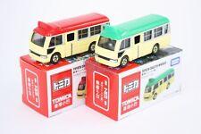 Takara Tomica Tomy TOYOTA Coaster MINIBUS Hong Kong 1/89 Diecast Toy Car 2X SET