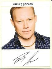 RICKY GROVES - EASTENDERS - STRICTLY COME DANCING - AUTOGRAPH & PHOTOGRAPH - COA