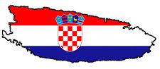 """Auto Aufkleber """"Brac"""" Kroatien Croatia Decal Sticker!"""