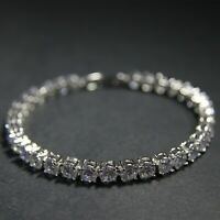 Superior Cut Very Shiny 6mm Cubic Zirconia Crystal Tennis Bracelet UK New
