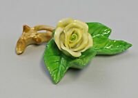 9959608 Porcelain Figurine Table Flower Rose Twig Yellow Ens 7, 5x7x3, 5cm
