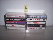 LOT OF 10 GREAT ROCK CASSETTES<<ERIC CLAPTON<<INXS<<GEORGE HARRISON  LOT 11