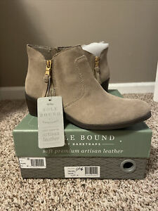 NEW!!! Taupe Ankle Booties, size 6.5