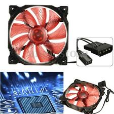 3-Pin/4-Pin 120mm PWM PC Computer Case LED Quiet CPU Cooler Cooling Fan Heatsink