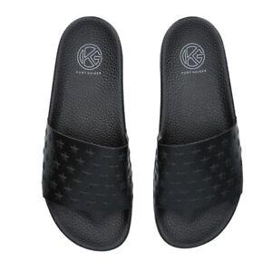 Kurt Geiger Black Alick Sandals Size UK 9 Flip Flops Sliders Pool Shoes Beach