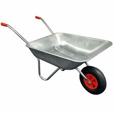 Galvanized Steel Frame Wheelbarrow Garden Wheel Trolley Barrow Cart Trailer Tyre