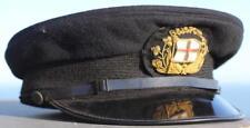 BRITISH & IRISH FERRIES ORIGINAL QUALITY OFFICERS HAT & GOLD WIRE BADGE 40/50'S