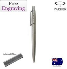 Personalised Engraved Parker Jotter Stainless Steel CT Ball Pen Chrome Trim NEW