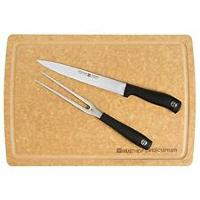 NEW WUSTHOF  2 PC CARVING SET WITH EPICUREAN BOARD. 8962