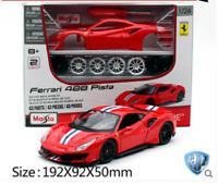 Maisto 1:24 Ferrari 488 Pista Assembly DIY Racing Car Diecast MODEL KITS IN BOX