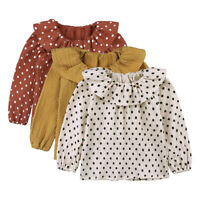 Toddler Infant T-Shirt Ruffle Blouse Baby Girl Kid Soft Long Sleeve Warm Tops