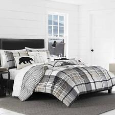 Eddie Bauer Normandy Plaid Comforter Set, Twin, Black