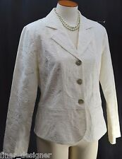 Chicos Jacket light blazer spring coat top jacquard textured cotton Chico 1 S M
