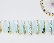 Blue And Gold Tassel Garland - Baby Shower / Party Decoration