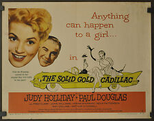 THE SOLID GOLD CADILLAC 1956 ORIG 22X28 MOVIE POSTER JUDY HOLLIDAY JOHN WILLIAMS
