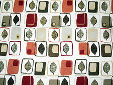 Art Deco Leaf All Over Quilted Tapestry Upholstery Fabric