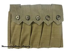 Reproduction WW2 US Thompson m1928 1928A1 20rd Magazine Canvas 5 Cell Mag Pouch