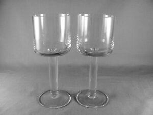 """2 Calvin Klein Bergen Wine Glass Goblets, 7-1/4"""""""