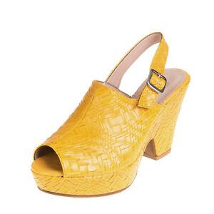 RRP€140 BRERA Slingback Mule Sandals EU 36 UK 3 US 6 Platform Sole Made in Italy