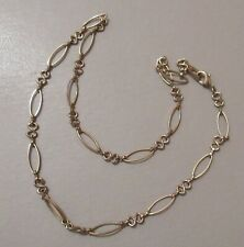 M and S gold double chain link short necklace